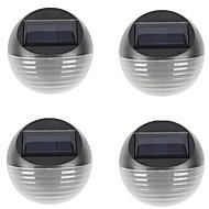 billige Utendørs Lampeskjermer-4stk 0.5 W Solar Wall Light Solar / Vanntett / Dekorativ Varm hvit / Kjølig hvit 2 V Utendørsbelysning / Courtyard / Have
