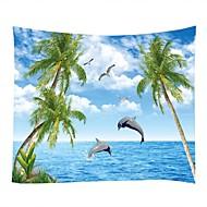 billige Veggdekor-Landskap / Marine dyr Veggdekor 100% Polyester Middelhavet / Moderne Veggkunst, Veggtepper Dekorasjon