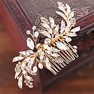 Ștras / Aliaj Îmbrăcăminte de păr / Hair Stick cu Piatră Semiprețioasă / Perlă Artificială 1 Bucată Nuntă / Party / Seara Diadema