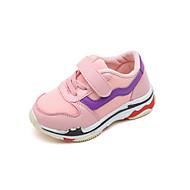 baratos Sapatos de Menina-Para Meninas Sapatos Com Transparência / Couro Ecológico Primavera Verão Conforto Tênis Caminhada Velcro para Infantil Preto / Rosa claro