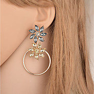 Damen Lang Tropfen-Ohrringe Ohrringe Blume damas Modisch Süß Schmuck Gold Für Geschenk Party 1 Paar