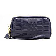 baratos Clutches & Bolsas de Noite-Mulheres Bolsas Pele Bolsa de Pulso Ziper Roxo / Vinho / Azul Real