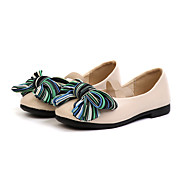 baratos Sapatos de Menina-Para Meninas Sapatos Couro Ecológico Primavera Verão Conforto Rasos Caminhada Laço para Adolescente Preto / Bege / Vermelho