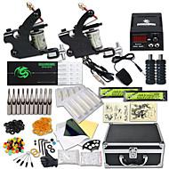 DRAGONHAWK Máquina de tatuaje Kit de tatuaje profesional - 2 pcs máquinas de tatuaje, Profesional / Seguridad / Fácil de configurar Legierung LCD de suministro de energía Funda Incluida 2 x aleación