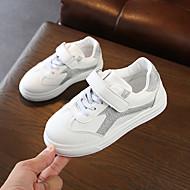 baratos Sapatos de Menina-Para Meninas Sapatos Couro Ecológico Primavera Verão Conforto Tênis Caminhada Velcro para Adolescente Prata / Rosa claro
