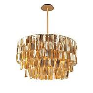 tanie -QIHengZhaoMing 4 światła Żyrandol Światło rozproszone Malowane wykończenia Metal Muszlowy 110-120V / 220-240V Ciepła biel Zawiera żarówkę