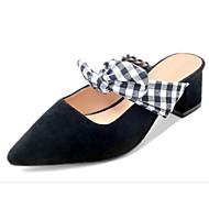 preiswerte -Damen Schuhe Schafspelz Frühling / Sommer Komfort / Pumps Cloggs & Pantoletten Blockabsatz Schwarz / Mandelfarben