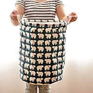 Χαμηλού Κόστους Ρούχα για Πλύσιμο-Βαμβάκι / Πολυεστέρας Κυκλικό Αστείος Σπίτι Οργανισμός, 1pc Θήκη & Καλάθι Απλύτων