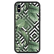 billiga Mobil cases & Skärmskydd-fodral Till Apple iPhone X / iPhone 8 Plus Mönster Skal Växter / Geometriska mönster / Tecknat Hårt Akrylfiber för iPhone X / iPhone 8 Plus / iPhone 8