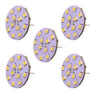 billige Bi-pin lamper med LED-5pcs 2 W 250 lm G4 LED-lamper med G-sokkel T 12 LED perler SMD 2835 Nytt Design Varm hvit / Kjølig hvit 12-24 V
