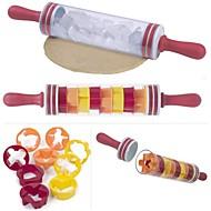 billige Bakeredskap-Bakeware verktøy Plast GDS Til Småkake / For kjøkkenutstyr / Til Kake Rullepinne 10pcs