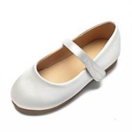 baratos Sapatos de Menina-Para Meninas Sapatos Cetim Primavera Verão Bailarina / Sapatos para Daminhas de Honra Rasos Pedrarias / Laço / Presilha para Infantil Branco / Ivory / Casamento