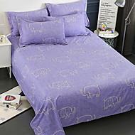 billige Hjemmetekstiler-Flat Laken - Polyester / Bomull Reaktivt Trykk Trykt mønster 1stk Flatt Laken