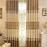 billige Gardiner ogdraperinger-gardiner gardiner Stue Geometrisk Bomull / Polyester Mønstret