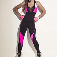 Dame Patchwork Flyverdragt - Sort Sport Farveblok Net Leggins Løb, Fitness, Træningscenter Sportstøj Hurtigtørrende, Åndbart, Komprimering Høj Elasticitet