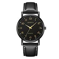 Geneva בגדי ריקוד נשים שעון יד קווארץ שחור / חום עיצוב חדש שעונים יום יומיים מגניב אנלוגי נשים יום יומי אופנתי - שחור / חום שחור / לבן לבן / Beige שנה אחת חיי סוללה