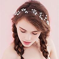 Mulheres Simples Tecido Liga,Cristal Bandanas-Em Cruz Floral