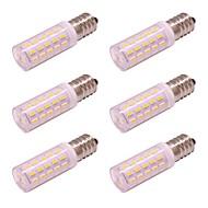 billige Kornpærer med LED-6pcs 4 W 350 lm E14 LED-kornpærer 54 LED perler SMD 4014 Nytt Design Varm hvit / Kjølig hvit 100-240 V