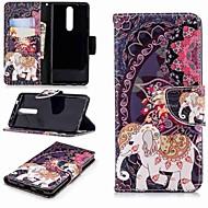 Carcasă Pro Nokia Nokia 5.1 / Nokia 3.1 Peněženka / Pouzdro na karty / se stojánkem Celý kryt Slon Pevné PU kůže pro Nokia 5 / Nokia 3 / Nokia 2.1