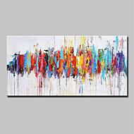 billige Nyheter-Hang malte oljemaleri Håndmalte - Abstrakt / Pop Kunst Moderne Uten Indre Ramme / Valset lerret
