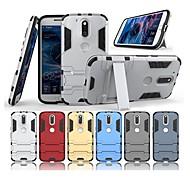 billiga Mobil cases & Skärmskydd-fodral Till Motorola G4 Plus med stativ Skal Enfärgad Hårt PC för Moto G4 Plus / Moto G4 Play / MOTO G4