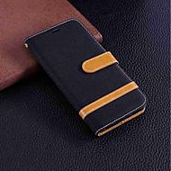 billiga Mobil cases & Skärmskydd-fodral Till Huawei Honor 7A / Honor 7C(Enjoy 8) Plånbok / Korthållare / med stativ Fodral Enfärgad Hårt Textil för Honor 7X / Honor 7A / Honor 7C(Enjoy 8)