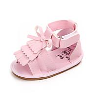 baratos Sapatos de Menina-Para Meninas Sapatos Couro Ecológico Verão Primeiros Passos Sandálias Mocassim / Velcro para Bebê Dourado / Branco / Rosa claro