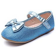 baratos Sapatos de Menina-Para Meninas Sapatos Sintéticos Primavera & Outono Conforto / Sapatos para Daminhas de Honra Rasos Laço / Velcro para Infantil Azul / Festas & Noite