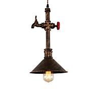 billige Takbelysning og vifter-vintage industriell pipe anheng lys metall skygge restaurant cafe bar dekorasjon belysning med 1-lys malt overflate