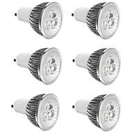 billige Spotlys med LED-6pcs 3 W 300 lm E14 / GU10 / GU5.3 LED-spotpærer 3 LED perler Høyeffekts-LED Dekorativ Varm hvit / Kjølig hvit 85-265 V