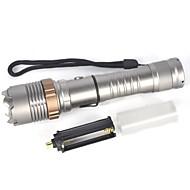 LED Lommelygter LED 2000 lm 1 Lys Tilstand Bærbar Camping / Vandring / Grotte Udforskning Sølv