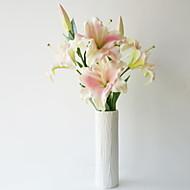 billige Kunstig Blomst-Kunstige blomster 1 Afdeling Klassisk / Enkel minimalistisk stil Liljer Gulvblomst