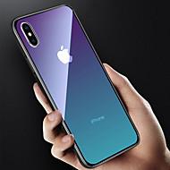 Pouzdro Uyumluluk Apple iPhone X / iPhone 8 Yarı Saydam Arka Kapak Renkli Gradyan Sert Temperli Cam için iPhone X / iPhone 8 Plus / iPhone 8