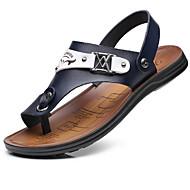 Muškarci Mikrovlakana Ljeto Udobne cipele Sandale Crn / Bijela / Plava
