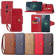 billiga Mobil cases & Skärmskydd-fodral Till Sony Xperia XZ1 Compact / Xperia XZ2 Plånbok / Korthållare / med stativ Fodral Enfärgad Hårt PU läder för Xperia XZ2 / Xperia XZ1 Compact / Sony Xperia XZ1
