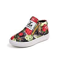baratos Sapatos de Menino-Para Meninos / Para Meninas Sapatos Lona Primavera & Outono Conforto / Sapatos para Daminhas de Honra Botas Ziper para Infantil Preto / Arco-íris / Festas & Noite