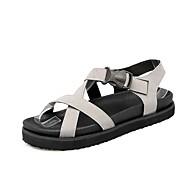 baratos Sapatos Femininos-Mulheres Sapatos Couro Ecológico Primavera Verão Conforto Sandálias Creepers Preto / Cinzento