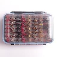billiga Fiske-112 pcs Fiske krokar / Fiskekit / Fiske Verktyg Flugor Fjädrar / Kolstål Enkel att installera / Lätt och bekvämt Sjöfiske / Flugfiske / Kastfiske / Karpfiske / Drag-fiske / Generellt fiske