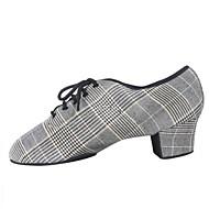 billige Jazz-sko-Herre Jazz-sko Syntetisk Oxford Tykk hæl Dansesko Lysegrå