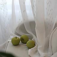 baratos Cortinas Transparentes-Sheer Curtains Shades Sala de Estar Riscas Mistura de poliéster Jacquard