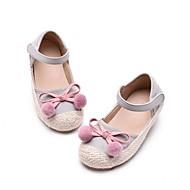 baratos Sapatos de Menina-Para Meninas Sapatos Couro Sintético Primavera & Outono Conforto Rasos Pom Pom para Infantil Preto / Cinzento / Verde