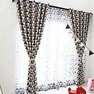 billige Gjennomsiktige gardiner-Gardiner Skygge Barnerom Geometrisk Polyester Reaktivt Trykk