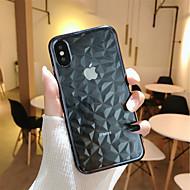 billiga Mobil cases & Skärmskydd-fodral Till Apple iPhone X / iPhone 8 Plus Plätering / Genomskinlig Skal Geometriska mönster Mjukt TPU för iPhone X / iPhone 8 Plus / iPhone 8