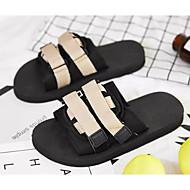 baratos Sapatos Masculinos-Homens Sapatos Confortáveis Lona Verão Esportivo Chinelos e flip-flops Preto / Khaki / Laranja e Preto