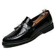 baratos Sapatos Masculinos-Homens Couro Ecológico Outono Conforto Oxfords Preto