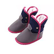 baratos Sapatos de Menino-Para Meninos / Para Meninas Sapatos Algodão Inverno / Outono & inverno Sapatos de Berço / Botas de Neve Botas Presilha para Bebê Azul Escuro / Cinzento / Fúcsia / Festas & Noite / Estampa Colorida