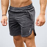 Herre Lomme yogashorts - Sort, Grå, Mørkegrå Sport Klassisk Shorts Løb, Fitness, Træning Sportstøj Hurtigtørrende, Åndbart, Bekvem Elastisk