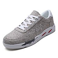 baratos Sapatos Masculinos-Homens Sapatos Confortáveis Couro Ecológico Outono Tênis Cinzento / Vermelho / Azul