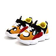 baratos Sapatos de Menino-Para Meninos Sapatos Couro Ecológico Primavera & Outono Conforto Tênis Caminhada Presilha para Infantil Cinzento / Amarelo / Vermelho