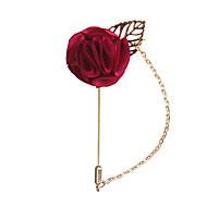 Hombre Clásico Elegante Broche Flor Europeo Romántico Broche Joyas Azul Wine Rosa claro Para Boda Fiesta